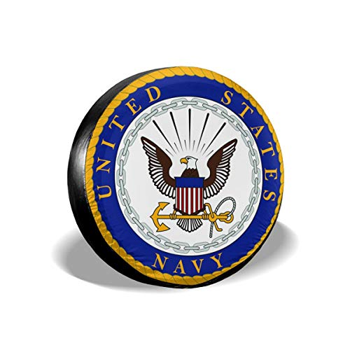 - US Navy Department Seal Cars Spare Tire Cover Cutomobile Tire Cover Tyre Size 14