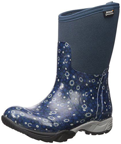 Bogs Women's Daisy MULTIFLOWER Work Boot, Navy Multi