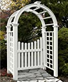 New England Nantucket Deluxe Arbor and Cottage Picket Gate
