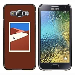 KLONGSHOP // Cubierta de piel con cierre a presión Shell trasero duro de goma Protección Caso - lejos - Samsung Galaxy E5 E500 //