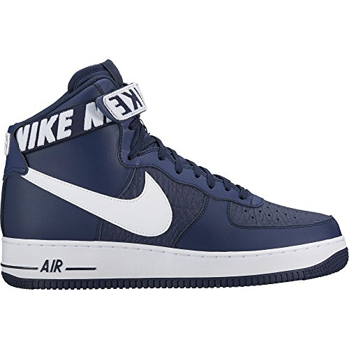 Nike Men's Air Force 1 High '07 Basketball Shoe, College Navy/White, (Nike Af1 Shoes)