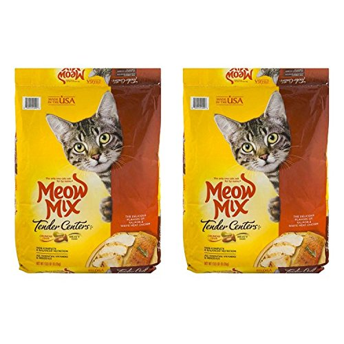 Meow Mix Tender Centers Dry Cat Food - 2 Pack of 13.5 Lb by Meow Mix