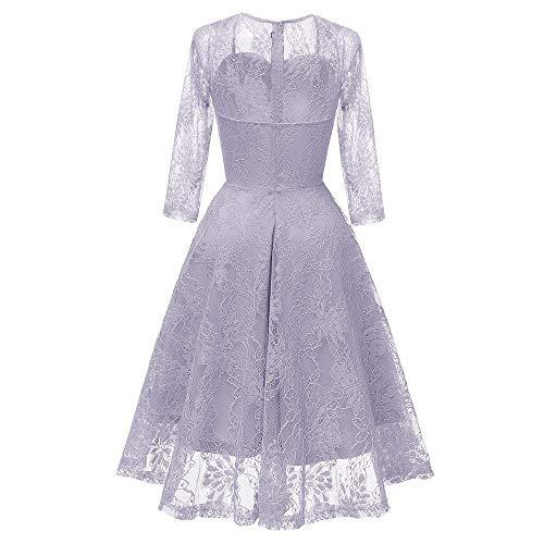 Dimensione Abito Fuxitoggo Princess colore Xl Sposa Viola Da Wine Party Lace Swing Vintage vdqRdfw