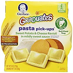 Gerber Graduates Pasta Pick-ups Ravioli, Sweet Potatoes and Cheese, 6 Ounce