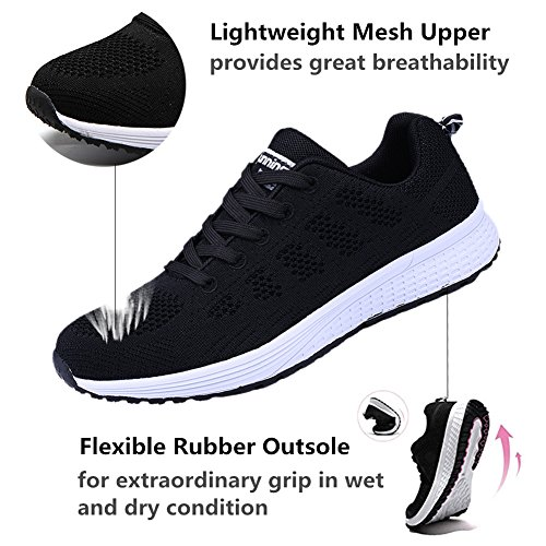 de Oscuro UMmaid Running Mujer Correr Plano Deportes Mujer Zapatillas Deportivos Gimnasio Azul para Zapatos qOwBqX