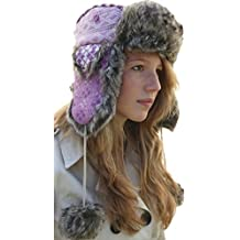 Thorness Pink Trapper Hat US Size 7 ⅛ Metric Size 57cm