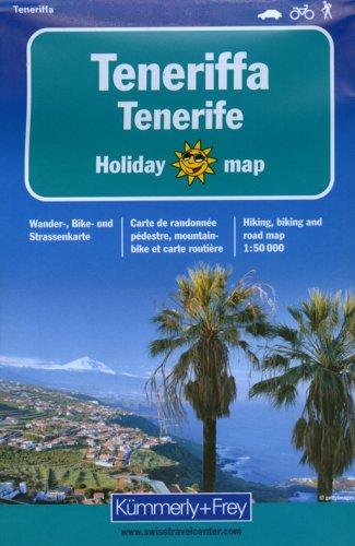 Teneriffa 1 : 50 000. Holiday Map. Wander-, Bike- und Strassenkarte