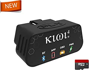 PLX Devices New Kiwi 4 Bluetooth OBD2 OBDII Diagnostic Scan Tool for Apple and Android