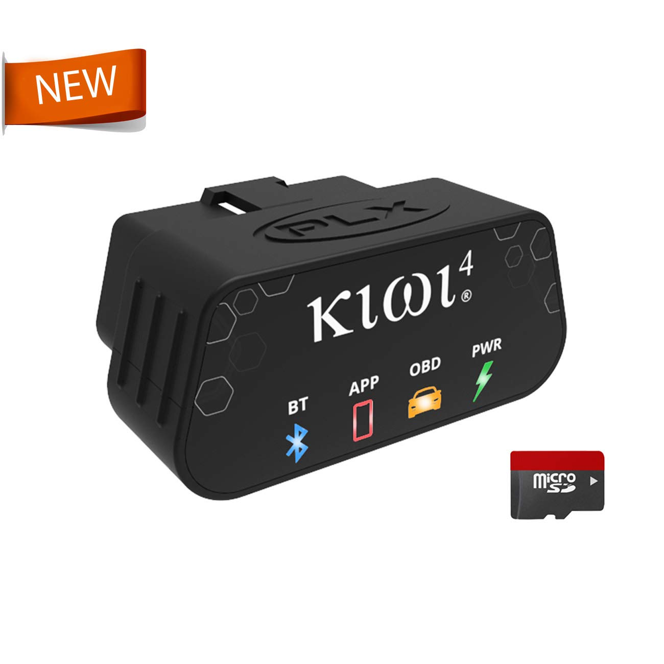 *NEW* PLX Devices Kiwi 4 Bluetooth OBD2 OBDII Diagnostic Scan Tool for Apple and Android