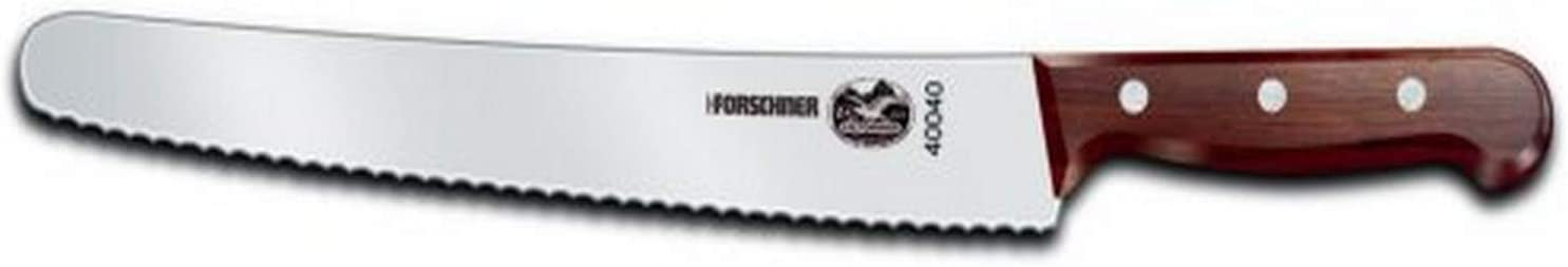 Victorinox 10-1/4-Inch Wavy Edge Bread Knife, Rosewood Handle