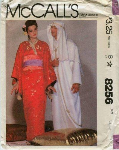 Sheik Arab Adult Costumes (McCall's Pattern 8256: Adult Costumes: Kimono, Caftan, Japanese Woman, Sheik, Arab)