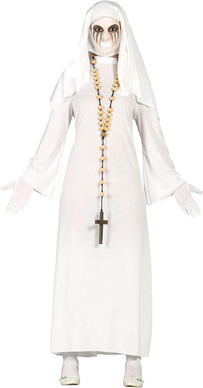 FIESTAS GUIRCA Disfraz Mujer con Monja Fantasma Talla l: Amazon.es ...