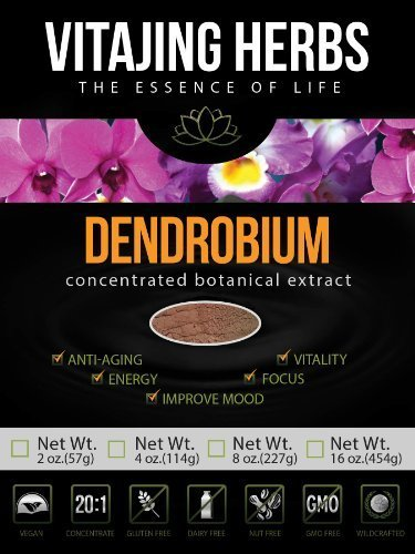 Dendrobium Powder Extract 20:1 CONCENTRATION (Shi Hu) (4oz - 114gm) - 100% PURE Powder, NO Binders, Fillers or Additives! by VitaJing