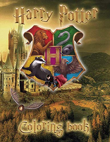 Harry Potter Coloring Book: Coloring Book for Kids and Any Fan of Harry Potter.