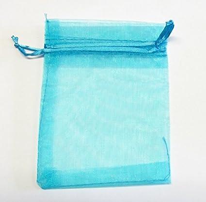 Bomboniera Matrimonio Azzurro : Sacchettini organza 9x12cm confetti bomboniera gioielli matrimonio