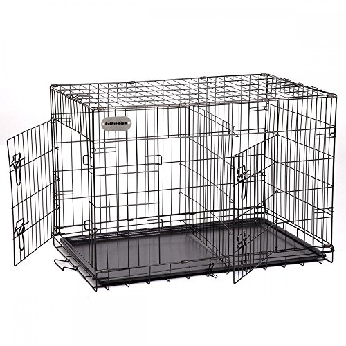 PetPremium Extra Large Dog Crate | XXL Pet Carrier Travel Cage | Indoor Outdoor Outside | Collapsible Portable