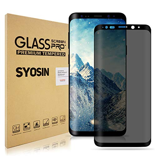 Samsung Galaxy S9 Screen Protector, M-Y Ltd. S9 Premium Privacy 3D Curved Anti-Spy Tempered [Case Friendly] Glass Screen Film for Samsung Galaxy S9