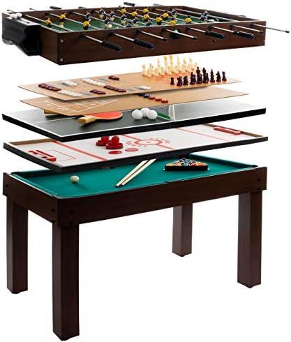 Mesa de juego 9 en 1 multifunción/Multi Game mesa/mesa de juegos/multifunción/mesa futbolín/mesa de futbolín/billar/Tenis de Mesa: anaterra: Amazon.es: Deportes y aire libre