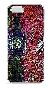 iPhone 5 5S Case Patterns Color Circles PC Custom iPhone 5 5S Case Cover Transparent