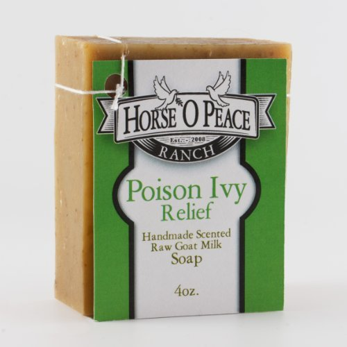 Handmade Herbal 100% Raw Goat Milk Poison Ivy Relief Soap (4.5oz./Bar)