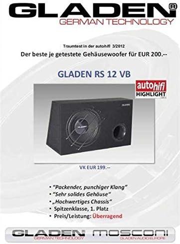 Gladen Rs 12 Vb 30 Cm Subwoofer In Bass Reflex Elektronik