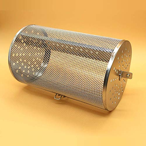 Jinqiuyuan Rotisserie Grill Basket Stainless Steel For Oven Green Coffee Roaster Grinder Maker Filter BBQ Peanut Bean Roasting Machine Mesh (Color : 12x18cm)