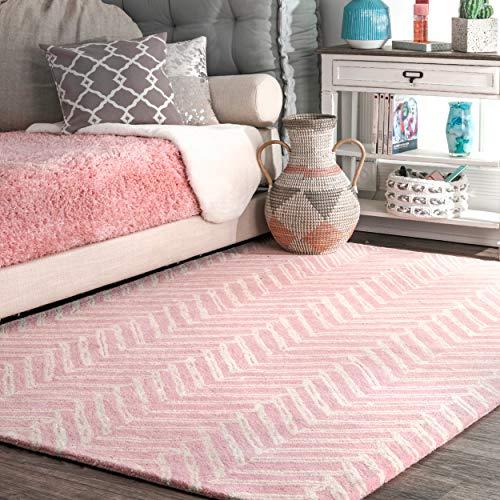 nuLOOM MTVS39C Chevron Iris Area Rug, 5' x 8', Pink ()