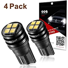 SEALIGHT 194 LED Light Bulb 6000K 168 T10 2825 SMD LED Replacement Bulbs for Car Dome Map Door Courtesy License Plate Lights (Pack of 4)