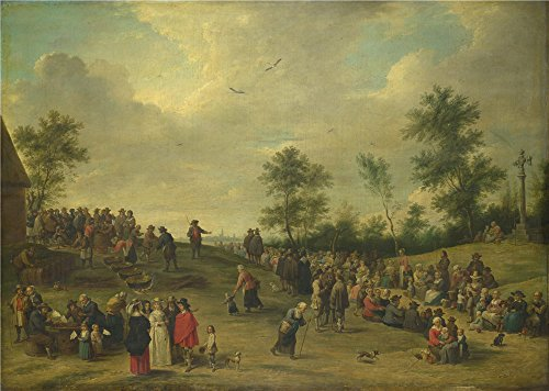 High Quality Polyster Canvas ,the Vivid Art Decorative Prints On Canvas Of Oil Painting 'After David Teniers The Younger A Country Festival Near Antwerp ', 30 X 42 Inch / (Hen Night Army Costumes)