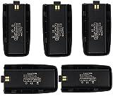 Retevis Original Li-ion Battery 1800mAh for TYT/Tytera DM-UVF10 Retevis RT2 Two Way Radio Walkie Talkie (5 Pack)