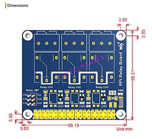 NEW Raspberry Pi Expansion Board Power Relay Module for Raspberry Pi 3 2 Model B B+ @XYGStudy by XYG-Raspberry Pi (Image #5)'