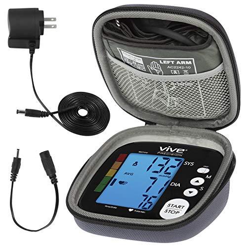 Vive Precision Blood Pressure Machine - Heart Rate Monitor - Automatic BPM Sphygmomanometer Heartbeat Measurements for Hypertension Diagnosis, Accurate Pulse Readings (Black, Deluxe Model)