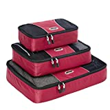 eBags Packing Cubes - 3pc Set (Raspberry)