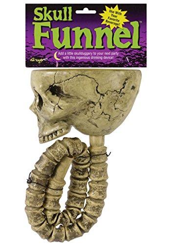 Fun World Skull Beer Funnel -