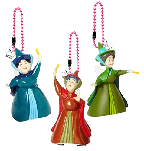 Disney's Sleeping Beauty Flora, Fauna, Merrweather Keychain/Dangler Set of 3