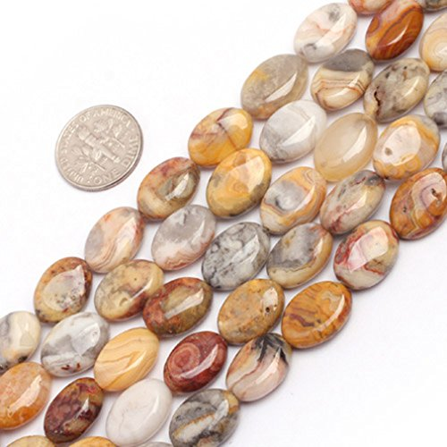 10x14mm Oval Gemstone Crazy Lace Agate Beads Strand 15 Inch