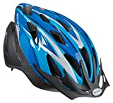 Schwinn Thrasher Bike Helmet, Lightweight Microshell Design, Youth, Blue/Silver