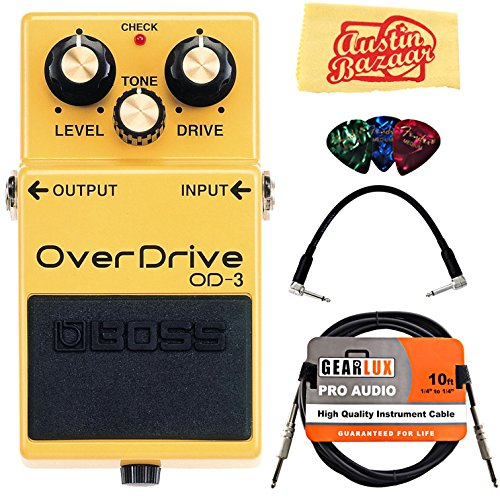 Bundle with Instrument Cable, Patch Cable, Picks, and Austin Bazaar Polishing Cloth ()