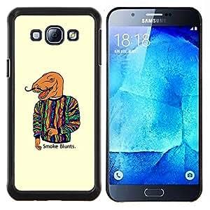 """Be-Star Único Patrón Plástico Duro Fundas Cover Cubre Hard Case Cover Para Samsung Galaxy A8 / SM-A800 ( Dinosaurio Arte Pintura Cita Humo Moda"""" )"""