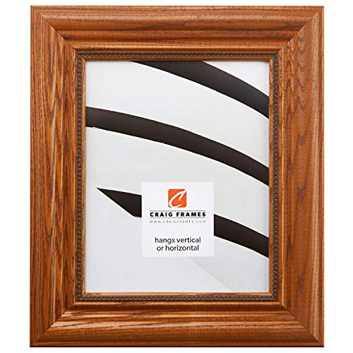 Craig Frames 15177483250 5 by 7-Inch Picture Frame, Solid Wood, 2.25-Inch Wide, Honey Oak -