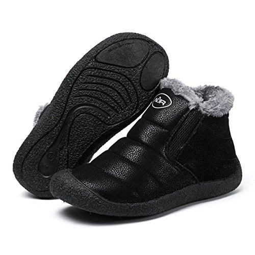 Planas Cortas Boots Zapatos Botines Mujer Invierno Libre Forradas Cortas Zapatos Aire Gracosy Botas Impermeables Botines Negro Calientes de Fur Nieve Boots Tobillo H66Zn47q