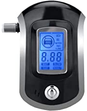 Digital Breath Alcohol Tester LCD Breathalyzer Analyzer With 5 Mouthpiece Breath Alcohol Tester