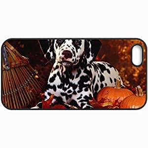 Customized Cellphone Case Back Cover For Case For Sam Sung Note 4 Cover , Protective Hardshell Case Personalized Dalmation Black