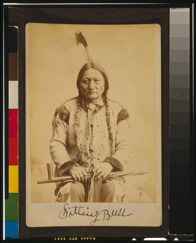 HistoricalFindings Photo: Sitting Bull,Dakota Indian,Tribal Chief,Calumet,holding peace - Chief Pipe Sitting Indian