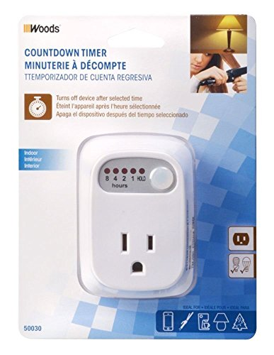 Woods 50030WD Indoor Countdown Timer, 1-Outlet - Outlets Fashion Hours