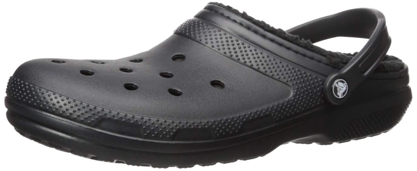 Crocs Unisex Classic Lined Clog,Black/Black,9 US Men / 11 US Women