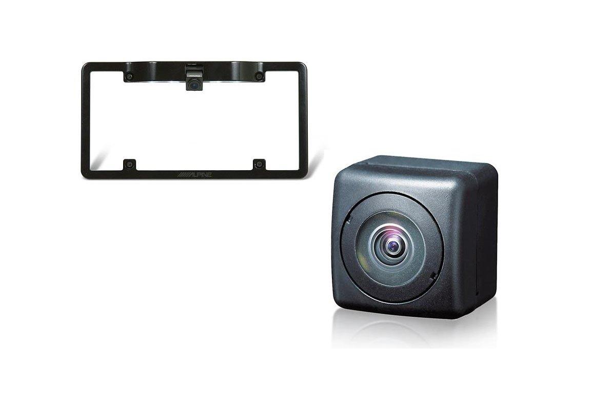 Alpine HCE-C104 Universal Rear View Camera+ Alpine KTX-C10LP License Plate Mounting Kit