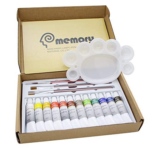 Memory Waterproof Acrylic Glass Paint Set for Kids on Wine Bottle Crystal Window and Ceramics