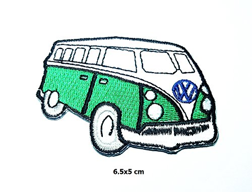 Green Vw Volkswagen Camper Van Bus Car Hot Rod Hippie Pat...