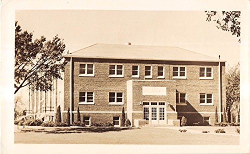 Hesston Kansas? Unspecified View of A Single Building Real Photo Postcard V13653
